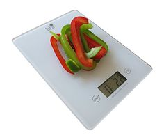 bbi Digital Kitchen Food Scale – Premium Food Scale Precisely Measures Grams, Ounces, AND Fluid Ounces-PLUS Free Measurement Cheat Sheet-Perfect For Portion Control-Works Great With Weight Watchers, Diet and Diabetic Plans-Features Tare Function, Accurate Measurement , Easy To View Digital Display, Strong Tempered Glass–PLUS 2 Great Bonuses! Satisfaction 100% Guaranteed Or Money Back!