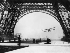 (Tom) French Aviator Lieutenant Collot Successfully Flies His Biplane Beneath the Tour Eiffel Photographic Print