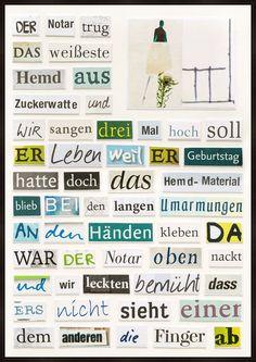 Das Hemd aus Zuckerwatte - Herta Müller - Bilder, Fotografie, Foto Kunst online bei LUMAS