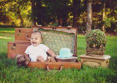 Vintage luggage photo prop #rusticruby