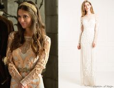 """In the episode 2x07 (""""The Prince of the Blood"""") Lady Kenna wears aTemperley London Long Catroux Dress."""