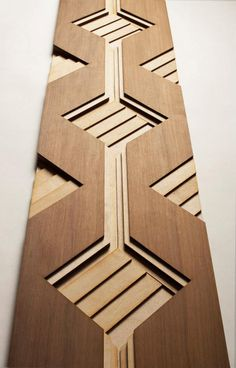 Sculptural Wood Surfaces by Anthony Roussel - Wood wall art - - Best Tour Ideen - Wood Patterns, Textures Patterns, Plafond Design, Into The Woods, Wood Surface, Wall Treatments, Wood Sculpture, Ceiling Design, Wood Wall Art