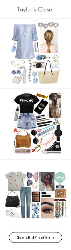 """""""Taylor's Closet"""" by madame-taylor ❤ liked on Polyvore featuring Matthew Williamson, Accessorize, Essie, Marc Jacobs, tarte, Converse, Urban Expressions, Disney, Newgate and MAC Cosmetics"""