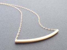 Tube 14K gold necklace by siemprejewelry