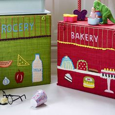 Rice DK Bakery and Grocery Shop Toy Baskets
