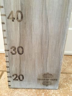 Shabby chic childrens height chart wooden timber by GrandadPats