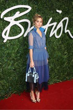 Suki Waterhouse at the 2014 British Fashion Awards