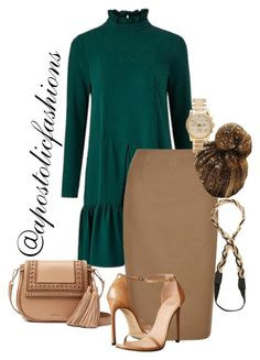 """Apostolic Fashions #1702"" by apostolicfashions on Polyvore featuring Traffic People, Hobbs, Stuart Weitzman, Michael Kors, Jules Smith and Kate Spade"