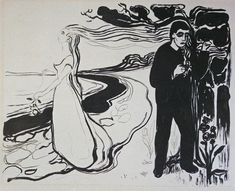 Edvard Munch (1863-1944) - 1896, Separation
