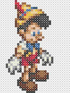 Disney, Pinocho, Pinocchio, Hama Beads, Perler Beads pattern