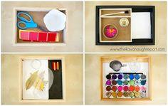 The Kavanaugh Report: 4 Montessori Art Trays at 2-years-old