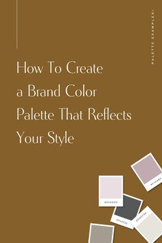 How to Create a Brand Color Palette That Reflects Your style and uses Color Theory Branding Your Business, Creative Business, Logo Branding, Branding Design, Brand Identity, Corporate Branding, Business Tips, Online Business, Logo Design