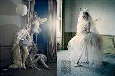 Lady Grey photoshoot for Vogue Italia in the crumbling Howick Hall (March 2010 Tim Walker)