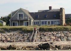 The house is right on the beach in a East Dennis vacation rental Mid Cape Cod