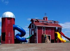 Oh my gosh i would love this for the kids who am i for Barn and silo playhouse