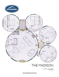 Yurt Floor Plans | Rainier Yurts