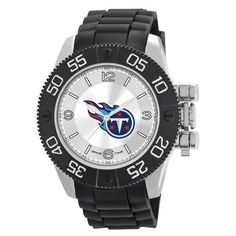 Tennessee Titans Mens Quartz Analog Silver Round Case Black Strap 48Mm  Beast Big Watches c8891df93