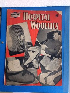 Retro Weldon knitting patterns Hospital Woolies wartime 20 page magazine 1940s