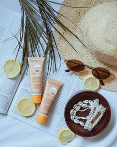 Summer set up&the latest release from Bioderma-Photoderm Cover Touch SPF 50+ #bioderma #photoderm #spf #spf50 #sunprotection #summer #setup #flatlay Summer Set, Sun Protection, 50th, Touch, Cover, Beauty, Beauty Illustration