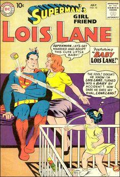 "browsethestacks: "" Vintage Comic - Superman's Girlfriend Lois Lane Pencils: Curt Swan Inks: Stan Kaye Colors: ? Superman Comic Books, Dc Comic Books, Vintage Comic Books, Vintage Comics, Comic Book Covers, Silver Age Comics, Superman Girlfriend, Pulp Fiction Comics, Dc Comics Collection"