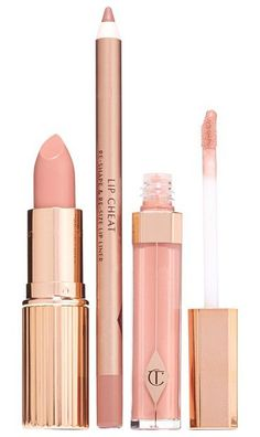 The perfect nude kiss set by Charlotte Tilbury. Achieve the perfect nude kiss with an expertly curated set by Charlotte Tilbury. Set includes:- K...