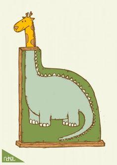 Giraffes and dinos, my favorites.