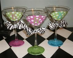 Oval Initial Hand Painted Martini Glass by winewhimsy on Etsy, $18.00