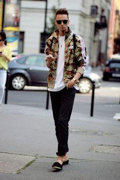 画像 : 【メンズファッション】ミリタリージャケット&迷彩柄の着こなし・コーディネート集 - NAVER まとめ