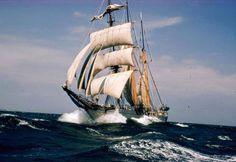 Boats under sails, Go Nautical, Old Tall Ship, Adventure at Sea, Sunset Sailing, Wooden Ships, Columbia, Gorch Fock, US Coast Guard Barque Eagle