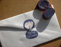 """YOU'VE GOT MAIL"" stamp by DearYouFromKozue, via Flickr"