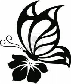 Details about Butterfly Cute Sexy Girly Car Truck Window Vinyl Decal Sticker 10 COLORS - Kathya Coutto Stencil Patterns, Stencil Art, Stencil Designs, Stenciling, Butterfly On Flower, Butterfly Stencil, Butterfly Template, Tattoo Foto, Girly Car
