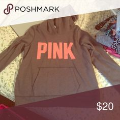 VS Pink Hoodie size L VS Pink hoodie, never worn before, size large, runs small/slim, perfect condition PINK Victoria's Secret Tops Sweatshirts & Hoodies