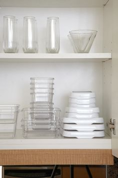 Peter Walsh's 7 Secrets of a Master Organizer—To avoid accumulating a drawerful of mismatched plastic containers in ten colors, Walsh uses just one brand of food storage container so lids will always fit (OXO LockTop set; Organize.com).