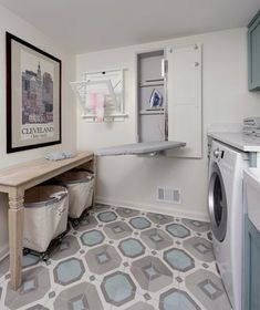 Laundry Room Pull-Down Storage