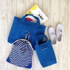 レッスンバック/Let's Enjoy/ブルー - ☆ 入園入学グッズ ☆ Green Porter ☆ 男の子と女の子の レッスンバッグ ☆