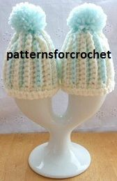 PFC23 FREE Egg Cosy Crochet Pattern, to fit medium size egg, very easy to follow. http://www.patternsforcrochet.co.uk/egg-cosy-usa.html #patternsforcrochet