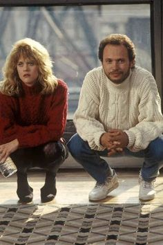 When Harry met Sally style chunky knits