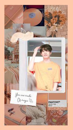 Peach Wallpaper, I Wallpaper, Lock Screen Wallpaper, Peach Aesthetic, Kpop Aesthetic, Kpop Backgrounds, Peach Background, Kpop Fanart, Loving U