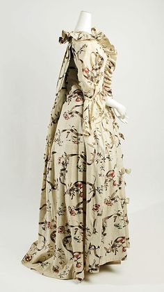 Dress (side view), 1750–75, French, printed cotton (c) Metropolitan Museum of Art