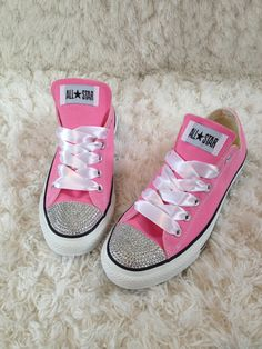 Bling Converse for adults by GirlyGlamFairy on Etsy, $80.00