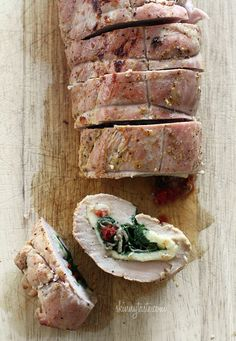 Spinach Prosciutto and Mozzarella Stuffed Pork Tenderloin | Skinnytaste