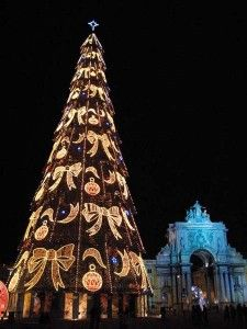 """A very Happy Holiday Season and Thank You to all my wonderful """"All Things Portuguese"""" Followers ~ Cinda   (Portuguese Christmas Tree - Lisbon)"""