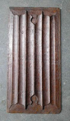 £175 ~ Fine 16th Century Tudor carved oak linenfold by TheMinervaGallery. A good quality 16th Century oak panel, probably from the reign of Henry VIII This particular example has really nice carving; both deep and finely cut. It would originally have been installed in wall panelling or a piece of furniture in a high status house. http://minervacompany.uk/antiques-for-sale/