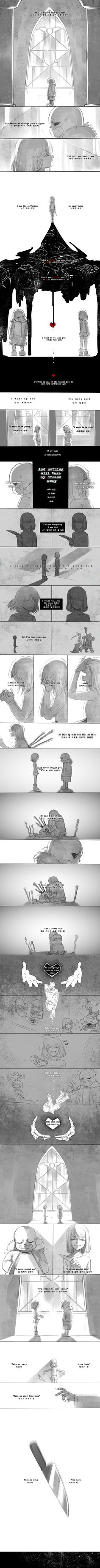 Sans, Chara, and Frisk - comic - Lullaby Suicide