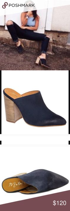 NEW Anthropologie X Matisse mule ankle boots suede Brand: Matisse sold at free people  .... New with Box! Casual mules feature a Suede upper with a Pointed Toe . The Man-Made outsole lends lasting traction and wear.in navy blue. Anthropologie Shoes Ankle Boots & Booties