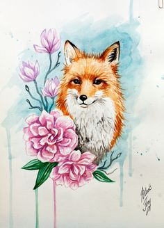 spring fox by BlackFurya