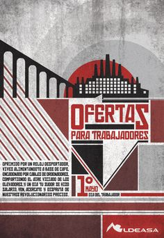 Marcela Torres's poster design of promotion for the worker's day for Aldeasa. (recent)