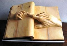 The Book of Life -  Wood Sculpture by Nino Orland