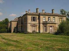 The SW corner and west front of the mothballed mansion, tucked away in a quiet corner of southern England. There are living buildings either side of this house, & the mansion is regularly visited, checked for damage and resealed!!