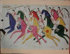 more plains indian ledger art